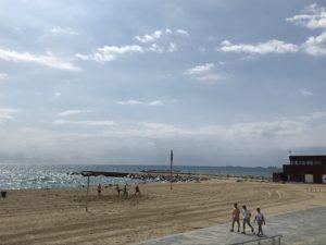 バルセロナ街並み海辺