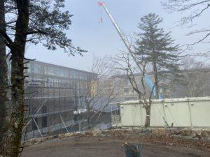 リッツカールトン日光建設の様子
