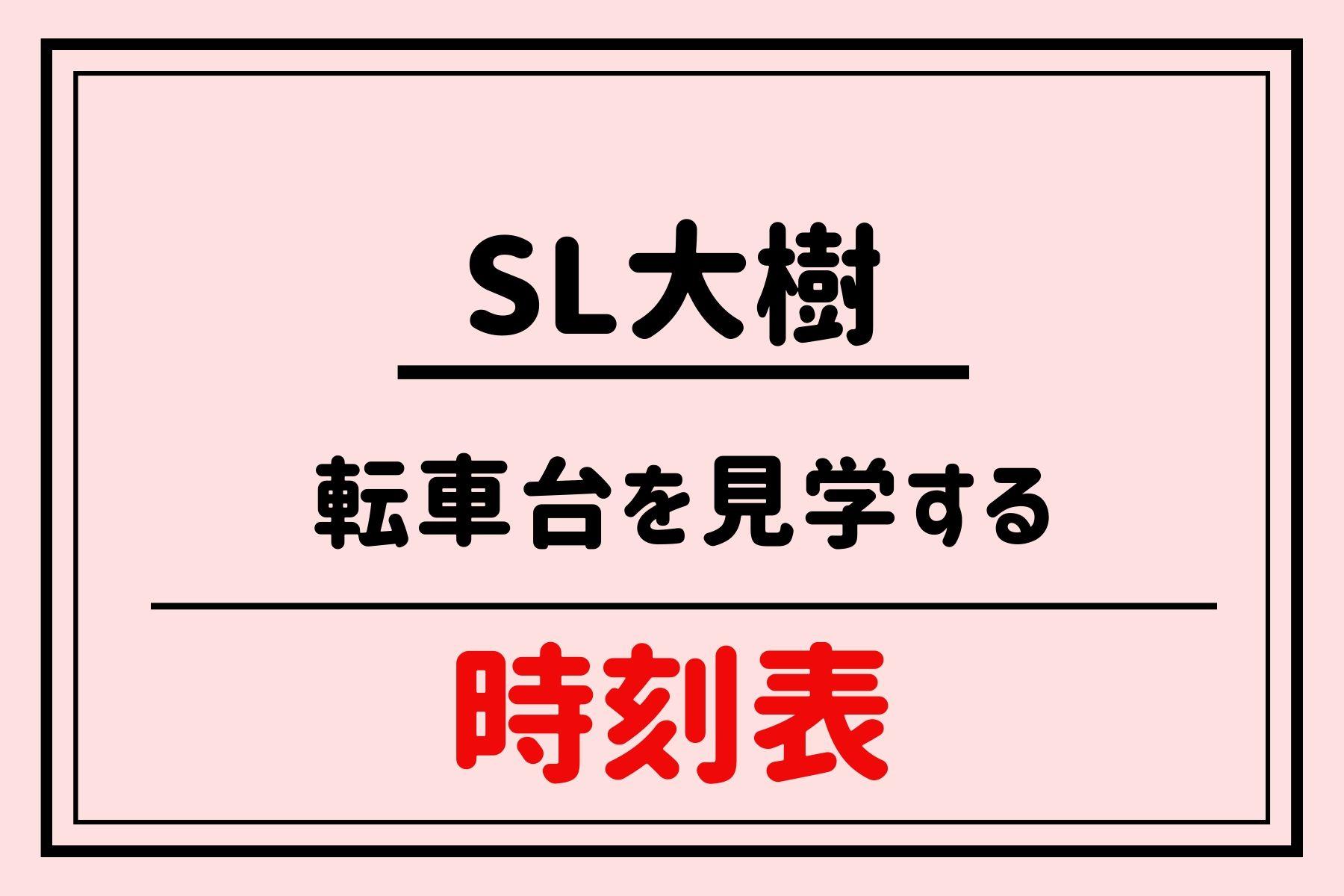 SL大樹時刻表